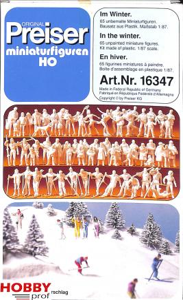 In the Winter, 65 unpainted figures