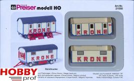 "Personal carrier and equipment caravan ""Circus Krone"""