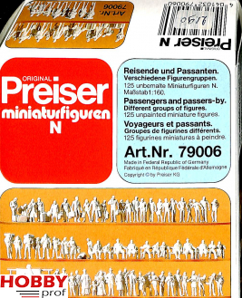 Passengers and passers-by, 125 unpainted figures