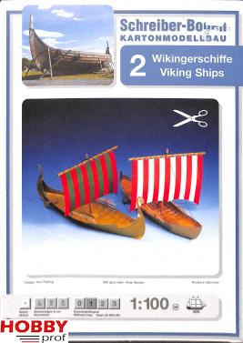 Bouwplaat 2 Vikingschepen 1:100