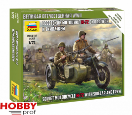 Soviet Motorcycle M-72 with Sidecar and Crew