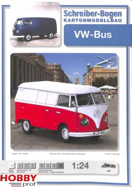 VW-Bus bouwplaat 1:24