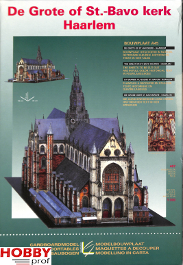 Cardboardmodel St.Bavo Church - Haarlem A45