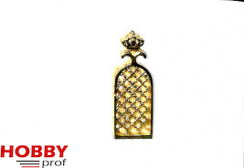Window grid ornament with crown 11x30mm